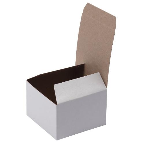 Custom White Gloss Flat Square Gift Box 02