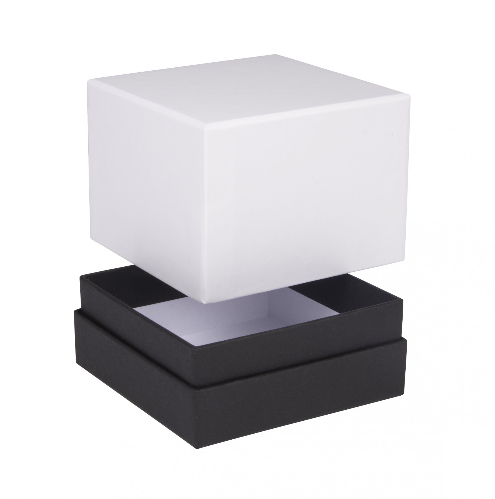 Luxury Matt White and Black Shoulder Cube Gift Boxes 02