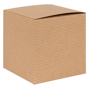 own Kraft Recycled Cube Flat Gift Box 01