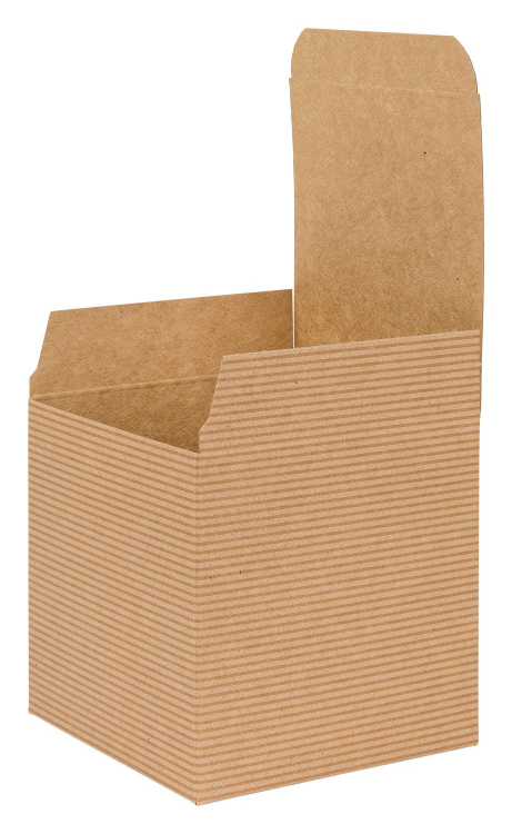 own Kraft Recycled Cube Flat Gift Box 02