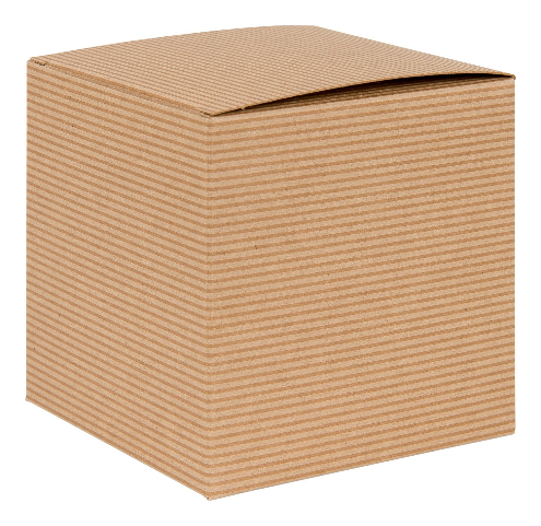 own Kraft Recycled Cube Flat Gift Box 03